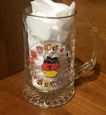 "New! Bockling Glass ""Flags of GERMANY"" 1/2 Liter Beer Stein (2010-Rare!)"