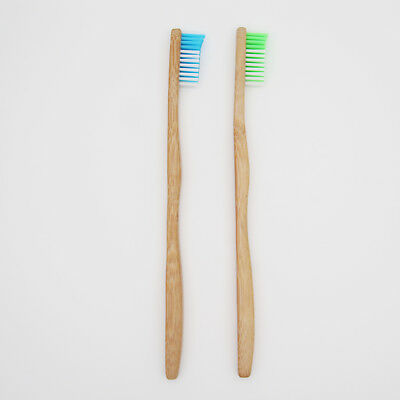 Bamboo Toothbrush, Ergonomic handle, Biodegradable Vegan Organic Natural Medium