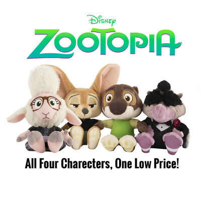 "Zootopia 6"" Plush Bellwether Finnick Mr. Otterton Mr. Big Collectors Set"