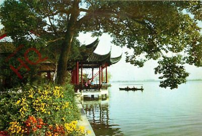 Picture Postcard~ China, West Lake, Pavilion Of The Calm Lake And Autumn Moon