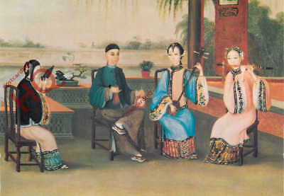 Picture Postcard- Chinese Court Musicians, C.1800