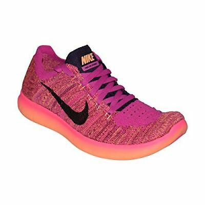 New Girl's Nike Free RN Flyknit GS Running / Training Shoes Sz 6.5 Y - pink