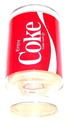 Coca Cola Coke Soda Pop Red Logo Advertising Glass EX Diet Can Top Flat Sign ofr