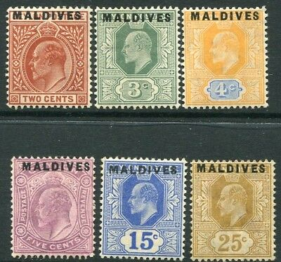 MALDIVE ISLANDS-1906 Set to 25c Sg 1-6 MOUNTED MINT V20283
