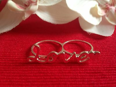 double bague love - two fingers ring love