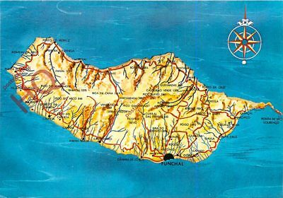 Picture Postcard: Madeira, Map