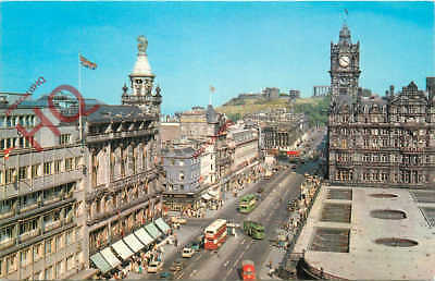 Postcard, Edinburgh, Princes Street And Calton Hill From The Scott Monument