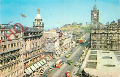 Postcard:-Edinburgh, Princes Street And Calton Hill From The Scott Monument