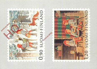 Picture Postcard--Finland, 1982 Christmas Stamps