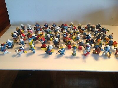Smurfs Figures 61 Assorted By Schleich Dated Late 70s To Early 80s