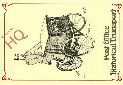 Picture Postcard, Post Office Historical Transport, Basket Carrier Tricycle