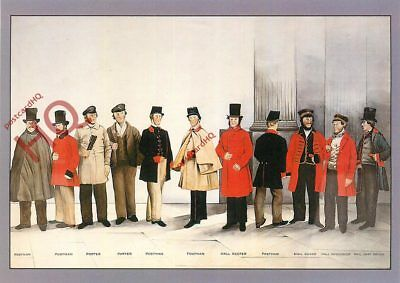 Picture Postcard:-Post Office Archives, Uniforms Of The London Postal Service