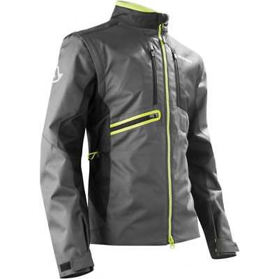 Acerbis Adults Enduro One Off Road Green Lane Motor Bike Jacket - Black/ Yellow