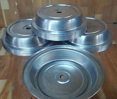 16 ea Used Vollrath Plate Covers 62315 Stainless Steel Catering  Buffet plates