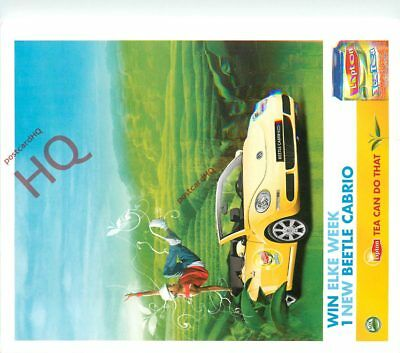 Picture Postcard: VW VOLKSWAGEN BEETLE CABRIO, LIPTON ICE TEA ADVERTISING