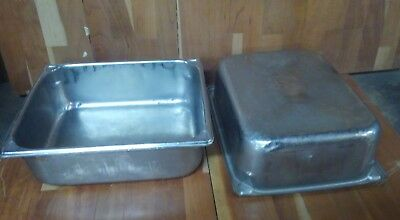 "2 ea Vollrath Super Pan 1/2 Size 4"" Deep Steam Table Pan 18-8 stainless 30242"