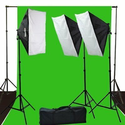 ePhoto 10 x 12 ChromaKey Green Screen Digital Photography Video Continuou Kit by