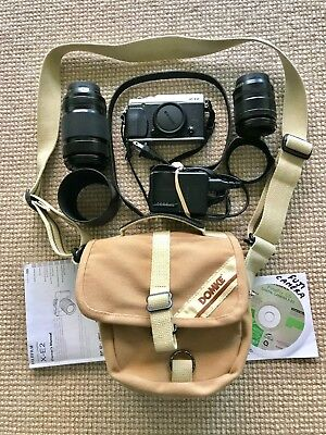 Fujifilm X Series X-E2 16.3MP Digital Camera barely used, 2 Lens, accessories