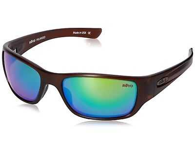 fde991f677 NEW REVO HEADING 4058 02 GN Matte Brown   Green Water Sunglasses ...