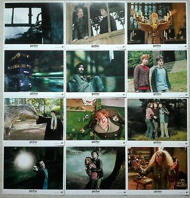 2004 HARRY POTTER & THE PRISONER OF AZKABAN 11x14 Lobby Card Set