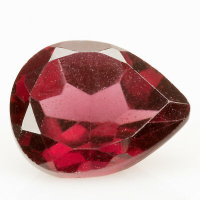 3.05ct Rhodolite Garnet. Purple with significant flashes of red. A pear cut gem.