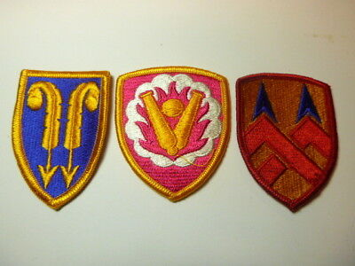 A   Lot of Three U S Army  Merrowed Edge  Patches # 5