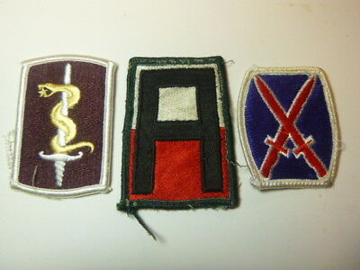 A   Lot of Three U S Army  Merrowed Edge  Patches # 13