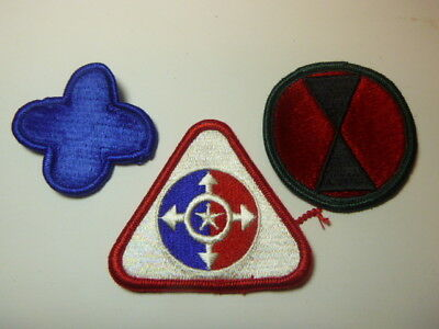 A   Lot of Three U S Army  Merrowed Edge  Patches # 14