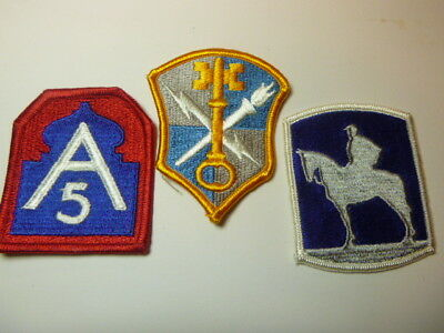 A   Lot of Three U S Army  Merrowed Edge  Patches # 15
