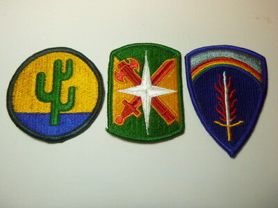A   Lot of Three U S Army  Merrowed Edge  Patches # 16
