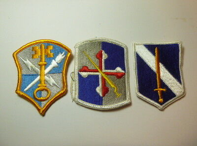 A   Lot of Three U S Army  Merrowed Edge  Patches # 21