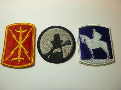 A   Lot of Three U S Army  Merrowed Edge  Patches # 24
