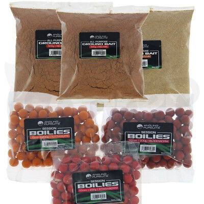 Carp Coarse Fishing Bait Set 3 x Packs Of Boilies And Groundbait Mixed Flavours