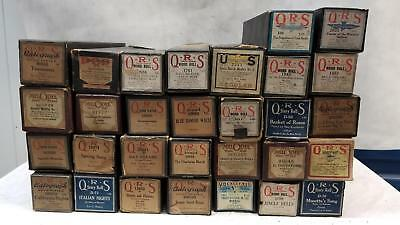 Vintage 1920s Lot of 30 Player Piano Rolls Capitol QRS Pianostyle Universal