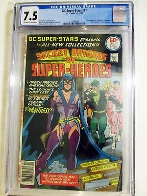 DC Super-Stars 17 origin & 1st app. HUNTRESS  CGC 7.5  1977 HOT BRONZE  DC KEY