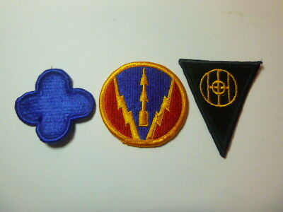A   Lot of Three U S Army  Merrowed Edge  Patches # A-3