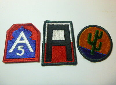 A   Lot of Three U S Army  Merrowed Edge  Patches # A-4