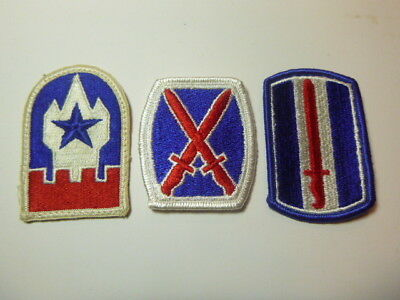A   Lot of Three U S Army  Merrowed Edge  Patches # A-5