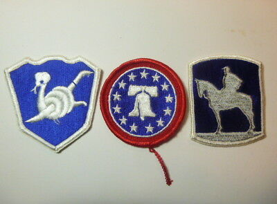 A   Lot of Three U S Army  Merrowed Edge  Patches # A-6
