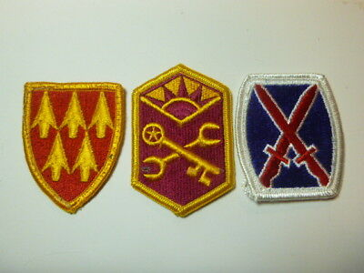 A   Lot of Three U S Army  Merrowed Edge  Patches # A-13