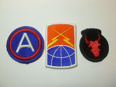 A   Lot of Three U S Army  Merrowed Edge  Patches # A-15