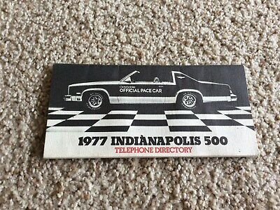 1977  Oldsmobile Indy-500 pace car ,original , telephone directory booklet