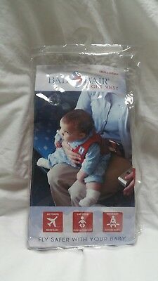 Baby B'Air Small Infant Flight Vest Harness Airplane Travel - Red