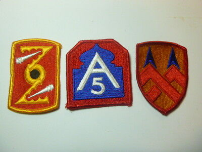 A   Lot of Three U S Army  Merrowed Edge  Patches # A-18