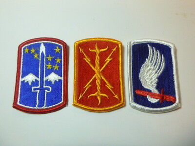 A   Lot of Three U S Army  Merrowed Edge  Patches # A-20