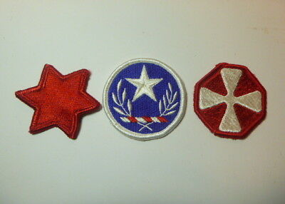 A   Lot of Three U S Army  Merrowed Edge  Patches # A-21