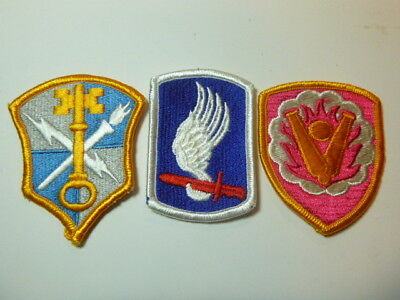 A   Lot of Three U S Army  Merrowed Edge  Patches # A-24