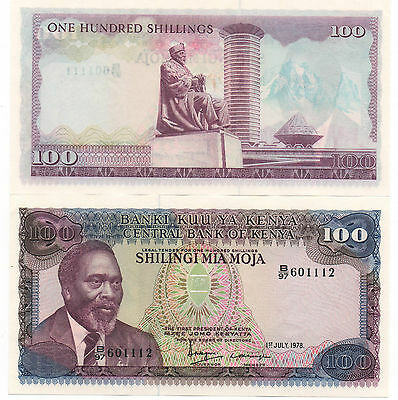 Kenya 100 Shillings 1978 Pick 18 Unc