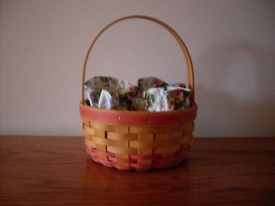 Longaberger 1998 Mother's Day Rings & Things Basket With Liner