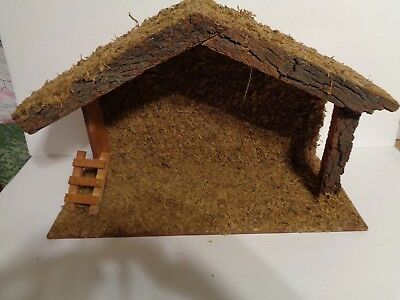 """Nativity Creche Stable Used Nice Condition """"read For Dimensions"""""""